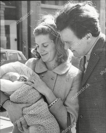 Glyn Owen (dead September 2004) And Wife Patricia Mort (divorced) With Their Baby Leaving Charing Cross Hospital.