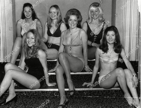 Valerie Edge First Love Of Dj Mike Read And Former Miss Thames Valley 1969. Front Row - Valerie Edge Susan Edwards Anita Barnes. Back Row - Denise Brown Julia Smith Barbara Nash.