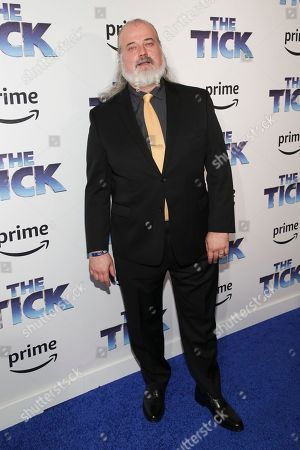 "Stock Picture of Actor Tyler Bunch attends the premiere screening of Amazon's Series ""The Tick"" at Village East Cinema, in New York"