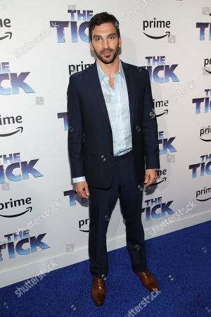 "Actor Scott Speiser attends the premiere screening of Amazon's Series ""The Tick"" at Village East Cinema, in New York"