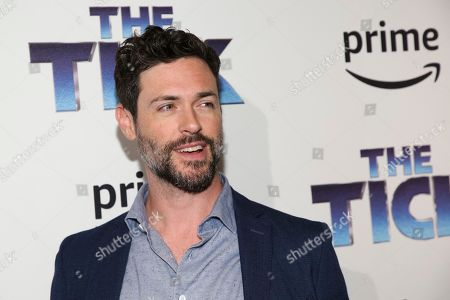 "Actor Brendan Hines attends the premiere screening of Amazon's Series ""The Tick"" at Village East Cinema, in New York"