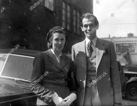 Maurice Macmillan Viscount Macmillan Of Ovenden Mp With His Wife Katherine Ormsby-gore In Halifax. Glass Neg.