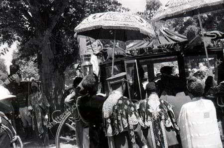 Stock Image of 25th Anniversary Of Haile Selassie Of Ethiopia Coronation. The Emperor's Coach And Horses As He Drives Through The Capital.
