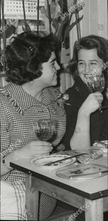 Miss Theo Bassett (left) And Miss Victoria Vaughan. Miss Bassett Is The Stepdaughter Of Actor/dancer Jack Buchanan. Box 709 313101643 A.jpg.