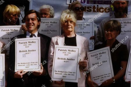 Stock Picture of Jill Morrell John Mccarthy And Ann Whelan In Centre Of Morrell And Mccarthy Campaign To Free The Bridgewater 4 At St Aloysius Church Nw1.