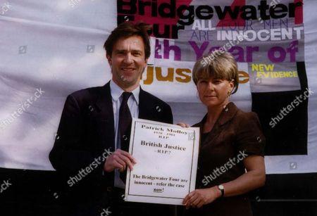 Jill Morrell John Mccarthy Campaign To Free The Bridgewater 4 At St Aloysius Church Nw1.