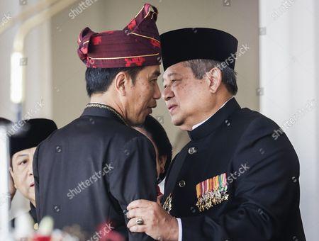 Joko Widodo and Susilo Bambang Yudhoyono
