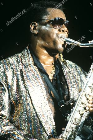 Clarence Clemons Pictured Performing in 1989