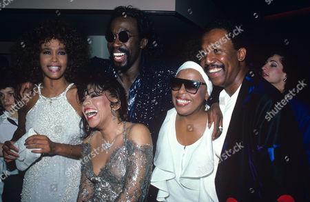 Ashford & Simpson Pictured with Whitney Houston Roberta Flack & George Faisen