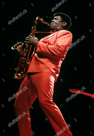 Clarence Clemons Pictured Performing