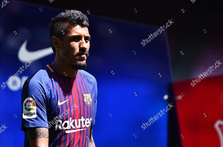 Jose Paulo Bezerra Paulinholooks ahead during his presentation as new FC Barcelona.