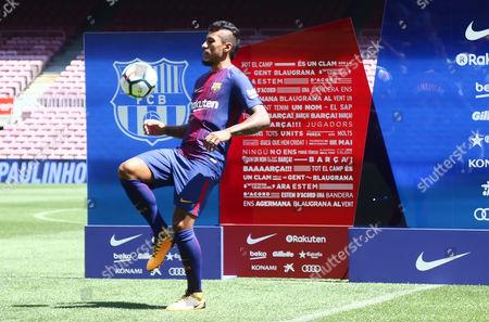 Jose Paulo Bezerra Paulinho during his presentation as new FC Barcelona.