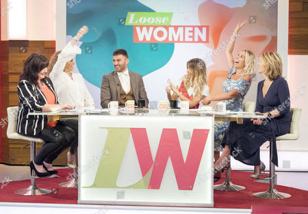 Stock Picture of Coleen Nolan, Nadia Sawalha, Jake Quickenden, Danielle Fogarty, Stacey Solomon and Kaye Adams