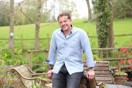 Stock Image of Matt Tebbutt photographed at his home near Abergavenny. Matt is the new host of the BBC programme Saturday Kitchen.
