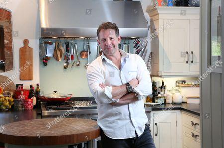 Matt Tebbutt photographed at his home near Abergavenny. Matt is the new host of the BBC programme Saturday Kitchen.