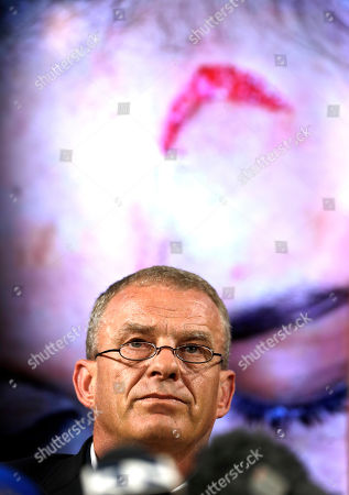 Stock Image of Gerrie Nel, a former state prosecutor who now works as a private prosecutor for AfriForum, takes a question during a media conference in Pretoria, South Africa, . The model who accuses Zimbabwe's first lady of assault, 20-year-old Gabriella Engels, has been offered legal assistance by a prominent lawyer who secured the murder conviction of Oscar Pistorius