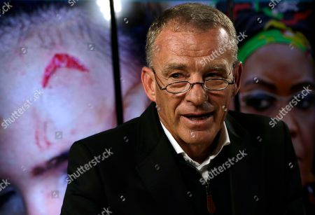 Stock Image of Gerrie Nel, a former state prosecutor who now works as a private prosecutor for AfriForum, during a media conference in Pretoria, South Africa, . The model who accuses Zimbabwe's first lady of assault, 20-year-old Gabriella Engels, has been offered legal assistance by a prominent lawyer who secured the murder conviction of Oscar Pistorius