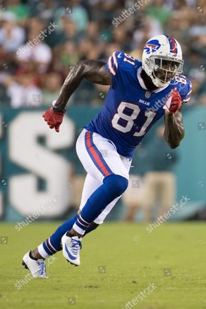 Buffalo Bills wide receiver Anquan Boldin (81) in action during the NFL game between the Buffalo Bills and the Philadelphia Eagles at Lincoln Financial Field in Philadelphia, Pennsylvania