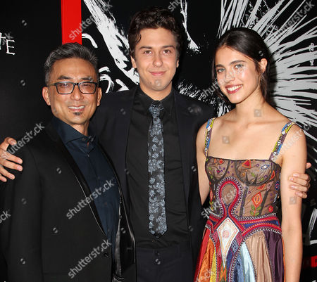 Stock Picture of Paul Nakauchi, Nat Wolff and Sarah Margaret Qualley