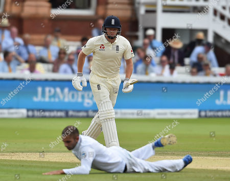 Jul 9 2017 - London United Kingdom - Cricket First Test Lords England V South Africa Day Four Picture Graham Chadwick Jonathan Bairstow and Keshav MaharajÂ