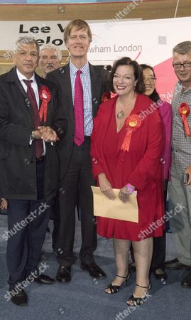 From Jamie Wiseman 9 6 17 Labour Party Shadow Home Secretary Lyn Brown Pictured After Holding Her West Ham Parliamentary Seat with A Majority of 36 754 She is Pictured Here with Fellow Re-elected Labour Mp Stephen Timms Who Won A Majority of 39 883 See Story Â