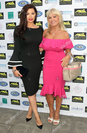 Jul 05 2017 - London England Uk - Paul Strank Charitable Trust Summer Party Mint Leaf Piccadilly - Outside Arrivals Photo Shows: Jessica Wright and Carol Wright (credit Image:
