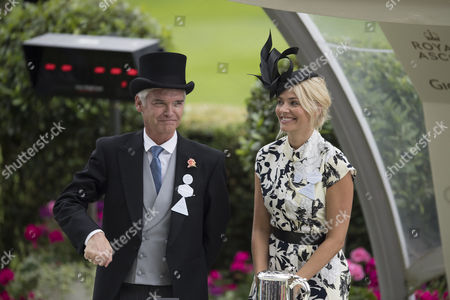 Jun 23 2017 - Berkshire United Kingdom - Actress Holly Willoughby with Philip Schofield at Day 4 of Royal Ascot Â