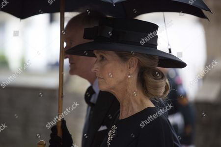 Jun 27 2017 - London United Kingdom - the Royals Attend the Funeral of the Countess Mountbatten of Burma St Paul's Church Knightsbridge Lord and Lady Brabourne ArriveÂ