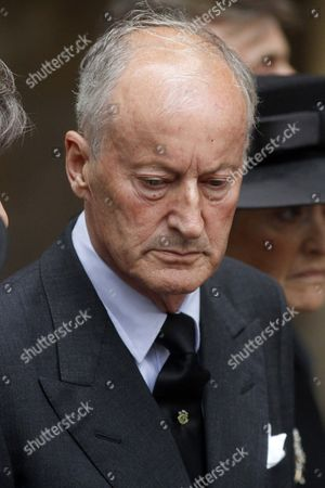 Stock Photo of Jun 27 2017 - London United Kingdom - the Royals Attend the Funeral of the Countess Mountbatten of Burma St Paul's Church Knightsbridge Lord Brabourne After the FuneralÂ