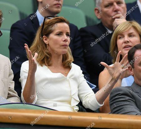 Adrian Mannarino V Novak Djokovic Darcy Bussell and Fiona Bruce