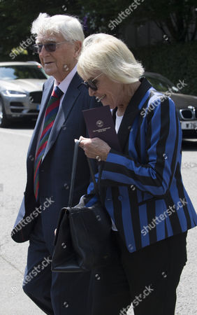 Jul 6 2017 - London United Kingdom - Michael and Mary Parkinson Arrive For the Tennis at the Wimbledon Championships Â