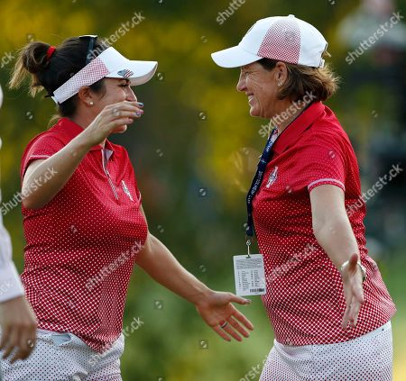 Gerina Piller, Juli Inkster United States' Gerina Piller, left, celebrates with team captain Juli Inkster after Piller and Stacy Lewis won a four-ball match victory against a European pairing in the Solheim Cup golf tournament, in West Des Moines, Iowa