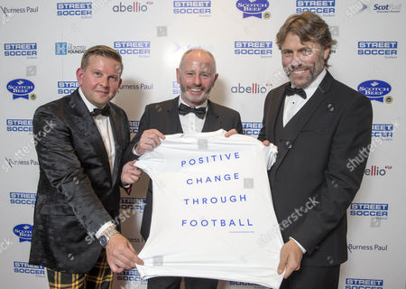 Greg McHugh aka tank comander, Stewart Milne (Aberdeen FC chairman) and John Bishop