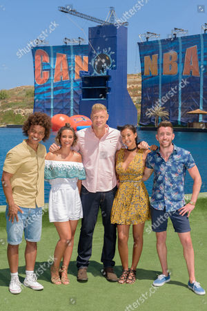 Radzi Chinyanganya, Frankie Bridge, Andrew 'Freddie' Flintoff, Maya Jama and Ryan Hand.