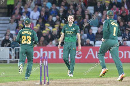 Editorial photo of Nottinghamshire County Cricket Club v Leicestershire County Cricket Club, Natwest T20 Blast North Group - 18 Aug 2017