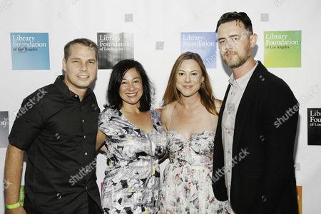 Shepard Fairey, Amanda Fairey, Samantha Bryant and Colin Hanks