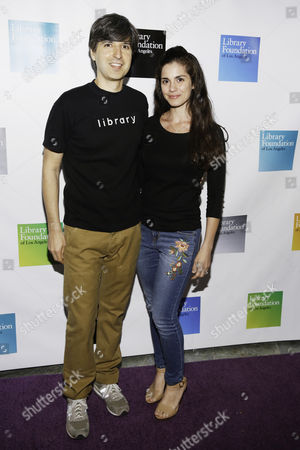 Stock Image of Demetri Martin and Rachel Martin