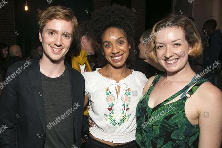 Luke Newberry, Pearl Mackie and Clara Turner