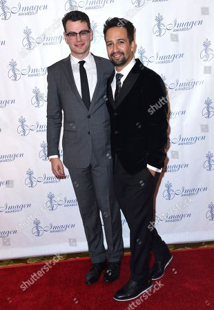 Alex Horwitz, Lin-Manuel Miranda Alex Horwitz, left, and Lin-Manuel Miranda arrive at the 32nd annual Imagen Awards at the Beverly Wilshire Hotel, in Beverly Hills, Calif