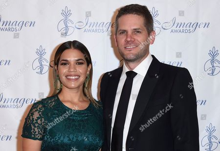 America Ferrera, Ryan Piers Williams America Ferrera, left, and Ryan Piers Williams arrive at the 32nd annual Imagen Awards at the Beverly Wilshire Hotel, in Beverly Hills, Calif