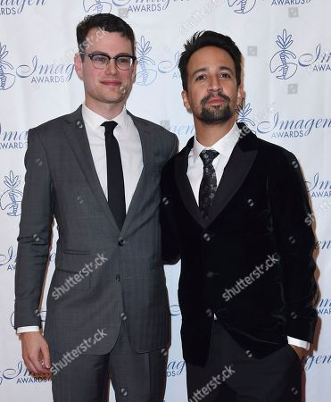 Stock Photo of Alex Horwitz, Lin-Manuel Miranda Alex Horwitz, left, and Lin-Manuel Miranda arrive at the 32nd annual Imagen Awards at the Beverly Wilshire Hotel, in Beverly Hills, Calif