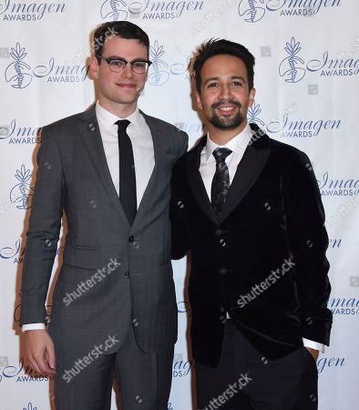 Stock Image of Alex Horwitz, Lin-Manuel Miranda Alex Horwitz, left, and Lin-Manuel Miranda arrive at the 32nd annual Imagen Awards at the Beverly Wilshire Hotel, in Beverly Hills, Calif