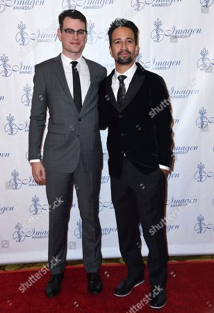Stock Picture of Alex Horwitz, Lin-Manuel Miranda Alex Horwitz, left, and Lin-Manuel Miranda arrive at the 32nd annual Imagen Awards at the Beverly Wilshire Hotel, in Beverly Hills, Calif