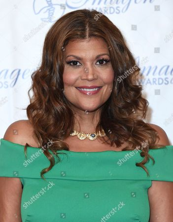 Aida Rodriguez arrives at the 32nd annual Imagen Awards at the Beverly Wilshire Hotel, in Beverly Hills, Calif