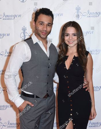 Corbin Bleu, Sasha Clements Corbin Bleu, left, and Sasha Clements arrive at the 32nd annual Imagen Awards at the Beverly Wilshire Hotel, in Beverly Hills, Calif