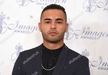 Stock Image of Gabriel Chavarria arrives at the 32nd annual Imagen Awards at the Beverly Wilshire Hotel, in Beverly Hills, Calif