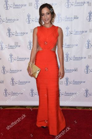 Stock Image of Carolina Ravassa arrives at the 32nd annual Imagen Awards at the Beverly Wilshire Hotel, in Beverly Hills, Calif