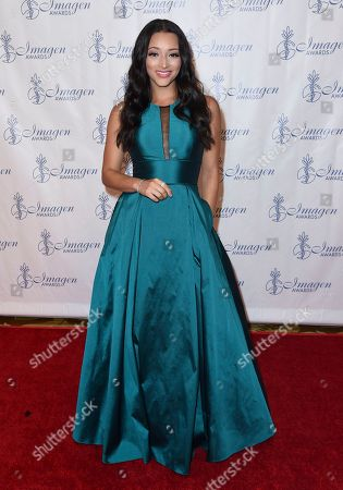 Danielle Vega arrives at the 32nd annual Imagen Awards at the Beverly Wilshire Hotel, in Beverly Hills, Calif
