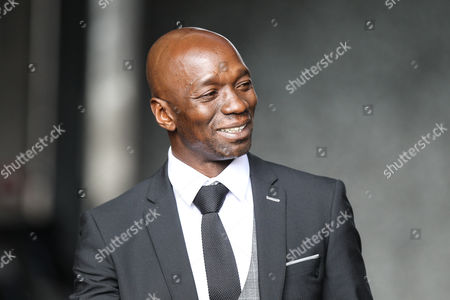 Swansea City assistant coach Claude Makelele arrives at the stadium, before the Premier League match between Swansea City and Manchester United at the Liberty Stadium, Swansea