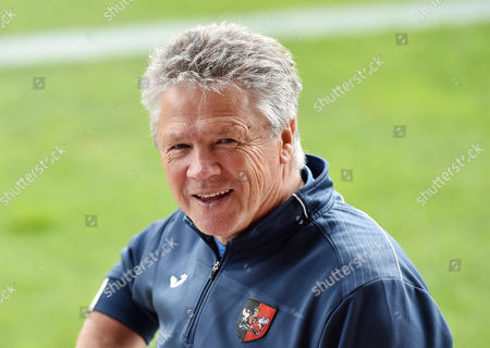 Steve Perryman: Exeter City director of football, during the Sky Bet League 2 match between Exeter City and Lincoln City, at St James Park, Exeter, Devon on August 19
